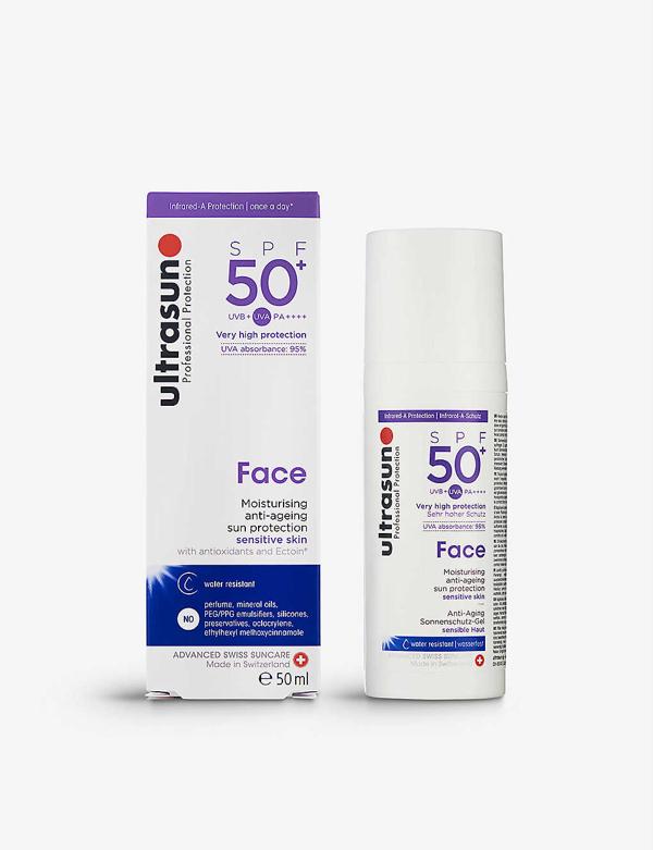 Ultrasun Face Spf50+ Water-resistant Sun Protection 50ml