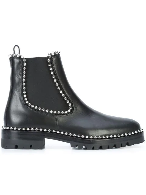 b3c1b4c0d35 Spencer Ball Chain-Trimmed Leather Chelsea Boots in Usd