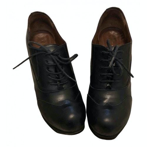 Pre-owned Fiorifrancesi Black Leather Heels