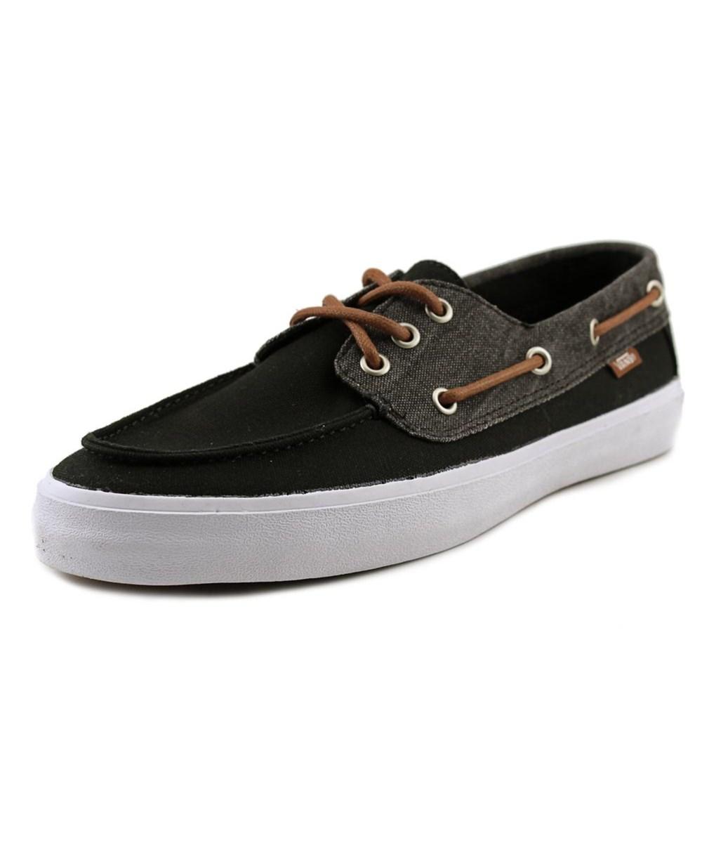 Vans Chauffeur Sf Men Moc Toe Canvas Black Boat Shoe' | ModeSens