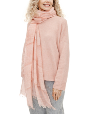 Eileen Fisher Cashmere Fringe Scarf In Lt/paspink
