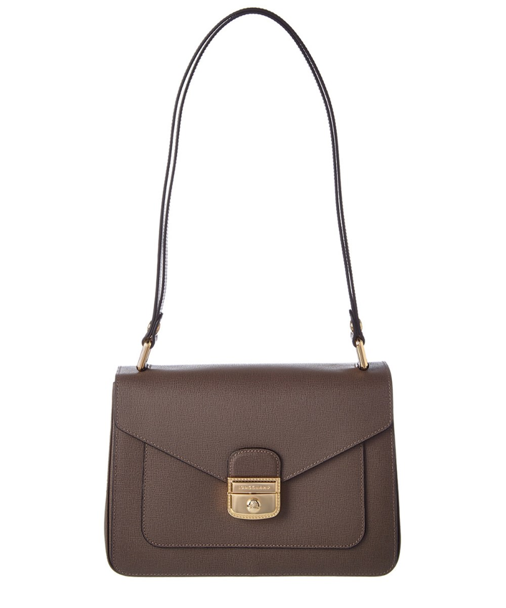 Longchamp Le Pliage Heritage Leather Hobo Bag' In Grey
