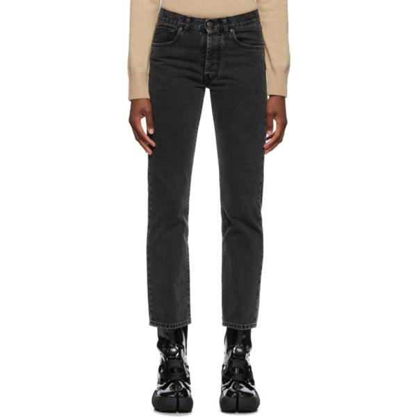 Maison Margiela Cropped Cotton Denim Jeans In 961 Black