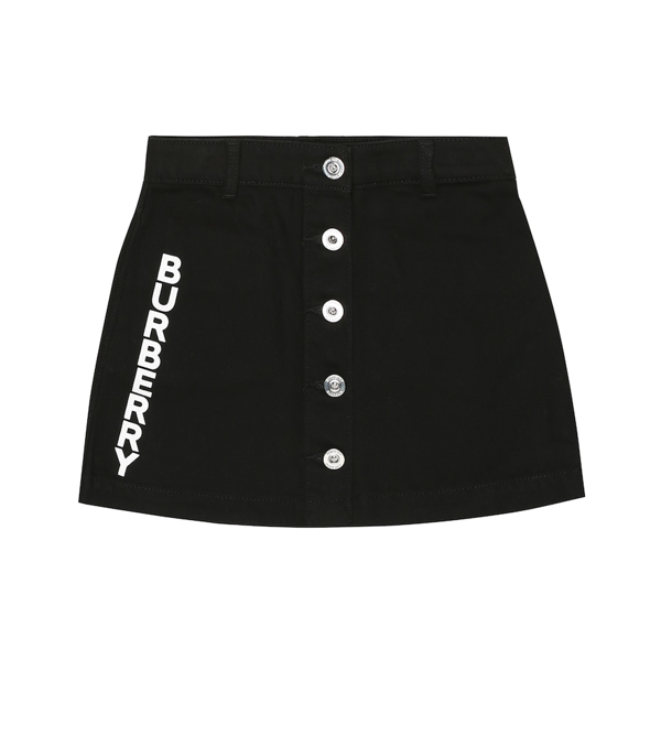 Burberry Kids' Little Girl's & Girl's Emilia Logo Denim Skirt In Black