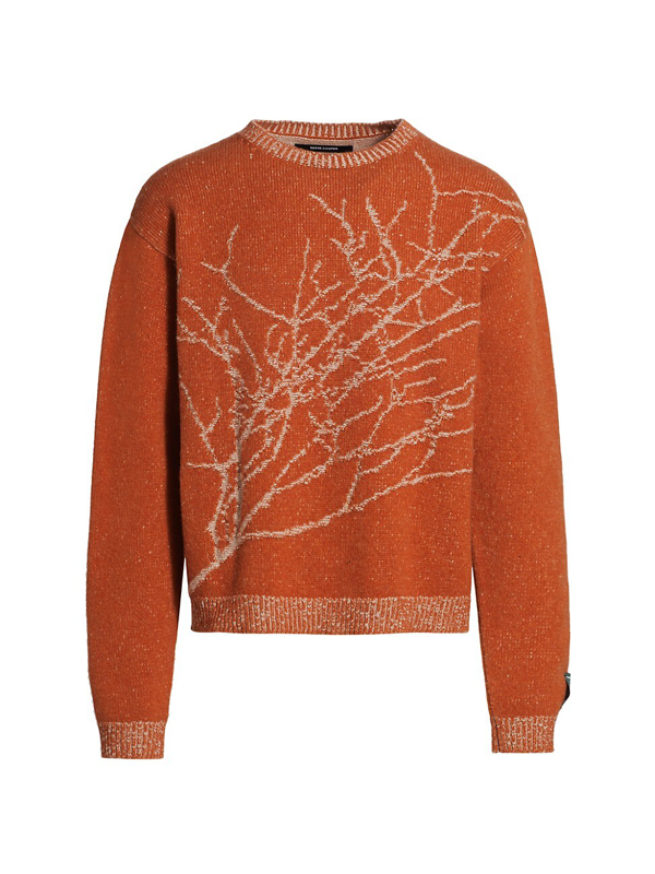 Reese Cooper Men's Branches Knit Sweater In Orange