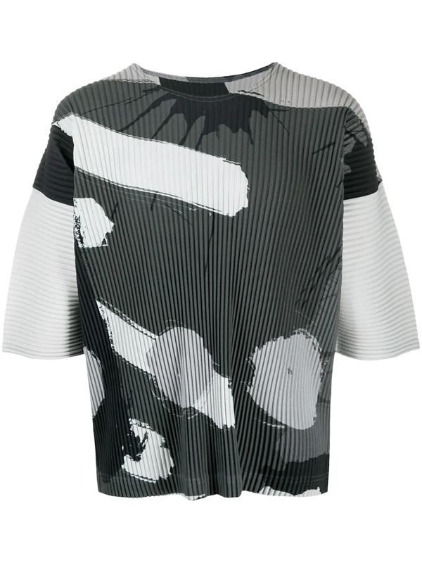 Pleats Please Issey Miyake Homme Plisse Issey Miyake Grey Big Brush T-shirt In 87 Graycirc