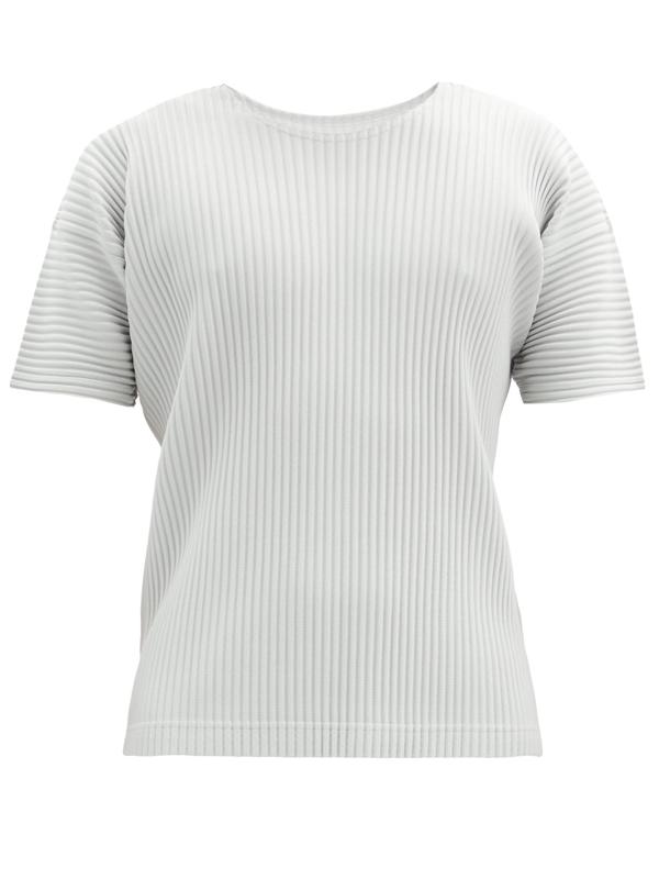 Pleats Please Issey Miyake Homme Plisse Issey Miyake Grey Crewneck T-shirt In 11 Light Gr
