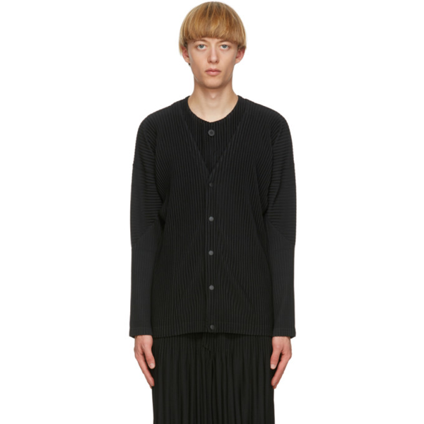 Pleats Please Issey Miyake Homme Plisse Issey Miyake Black Basics Cardigan In 15 Black
