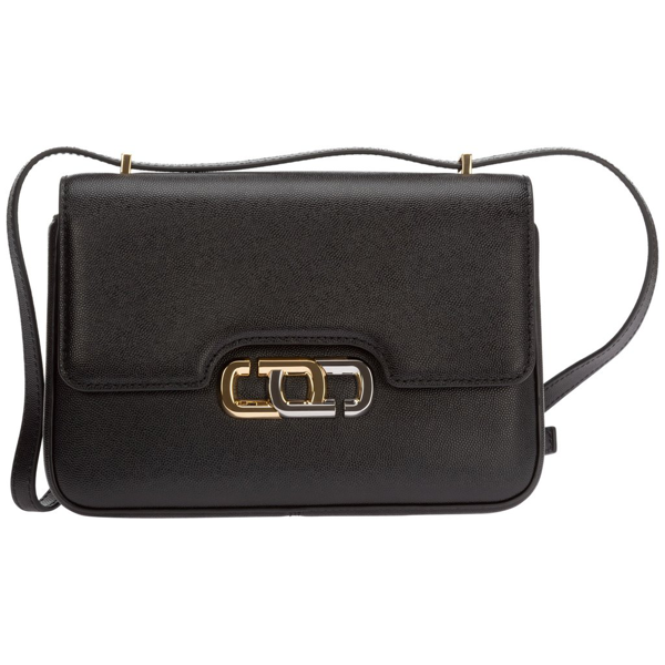 Marc Jacobs Front Flap Shoulder Bag In Black