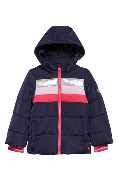 Joules Kids' Quilted Jacket In Navy
