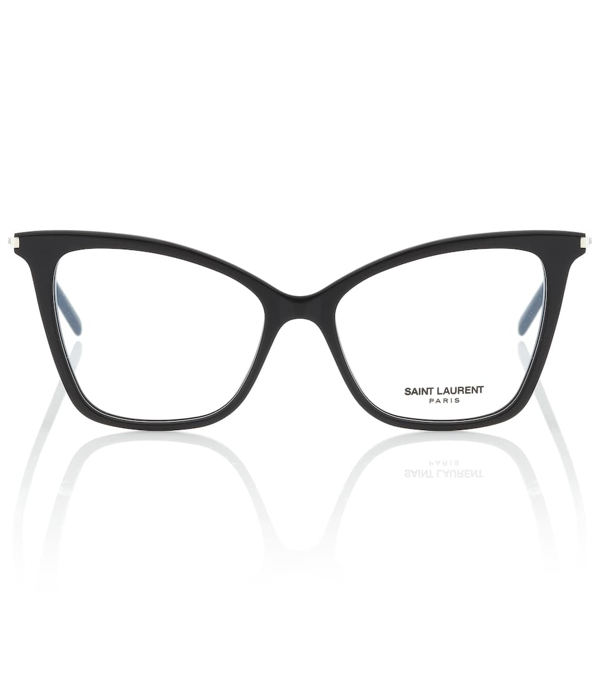 Saint Laurent Sl 386 Cat-eye Glasses In Black