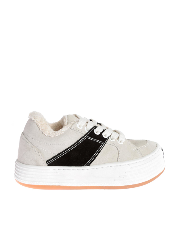 Palm Angels Low Top Sneakers In White In Cream