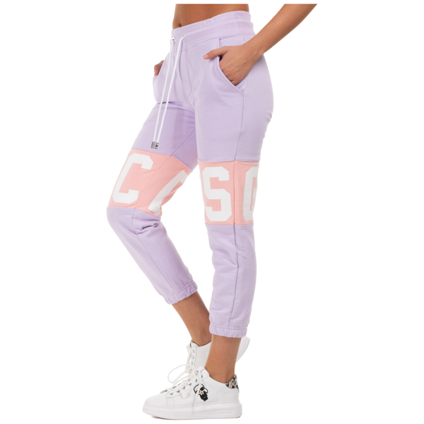 Gcds Women's Sport Tracksuit Trousers  Logo Band In Purple