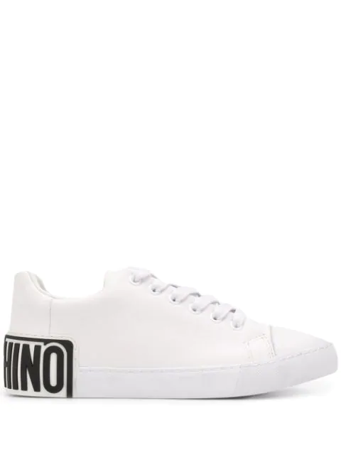Moschino Women's Low-top Logo Platform Sneakers In White