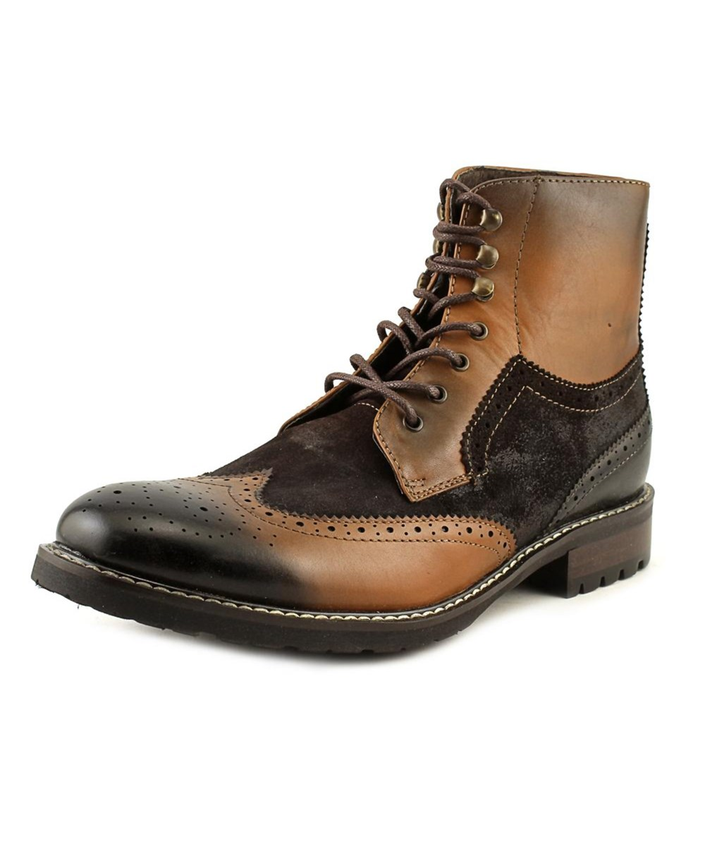 7e8ab8f347c Steve Madden Occupie Men Wingtip Toe Leather Boot' in Brown