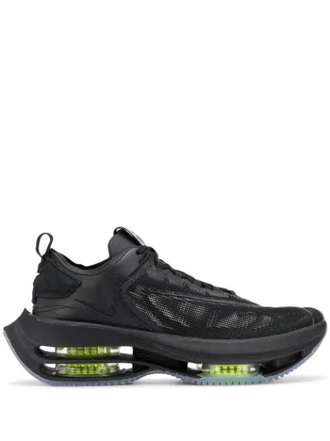 Nike Women Zoom Double Stacked Low Top Platform Sneakers In Black