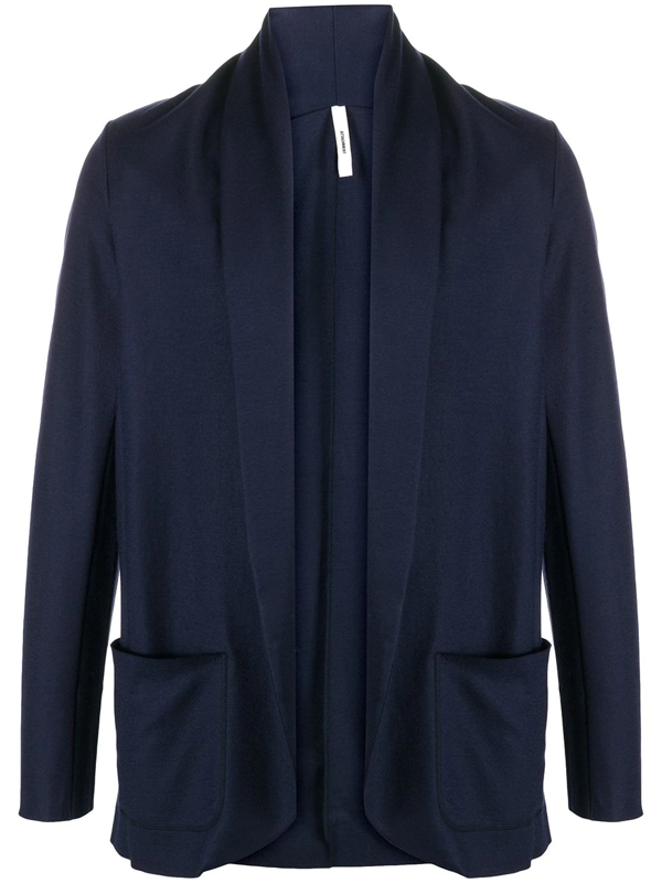 Attachment Shawl-collar Blazer In Blue