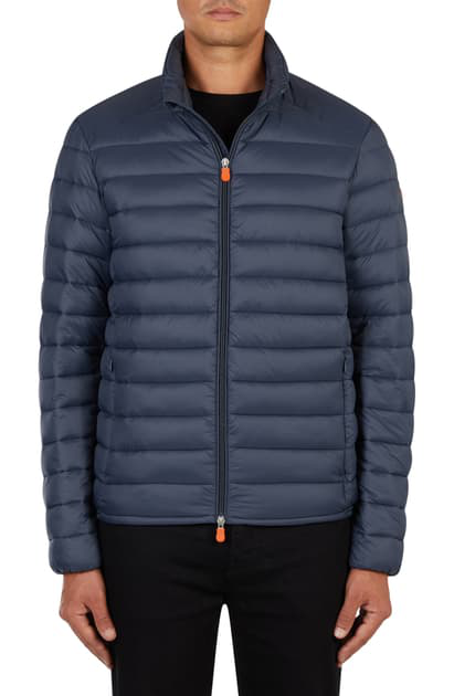Save The Duck Giga Water Resistant Puffer Coat In Navy Blue