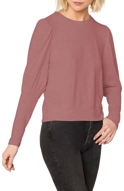 Cupcakes And Cashmere Cashmere And Cupcakes Kacey Sweatshirt In Autumn Mauve
