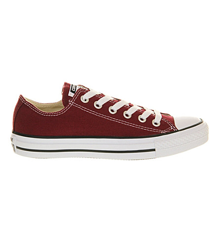 Converse All Star Low-top Canvas Trainers In Maroon Canvas