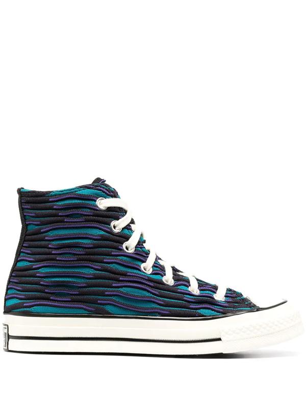 Converse High 'vibrant Chuck 70' Ocean Sneakers In Black