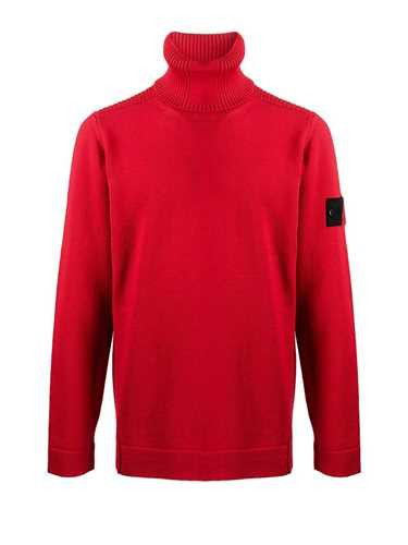 Stone Island Shadow Project Red 'stone' High Neck Sweater