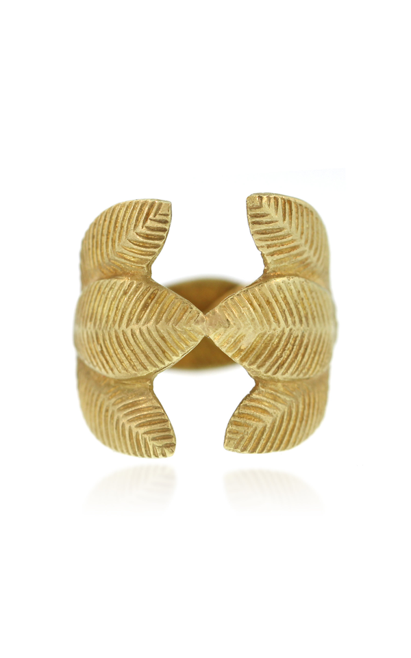 Lfrank Lotus Leaf 18k Yellow Gold Ring