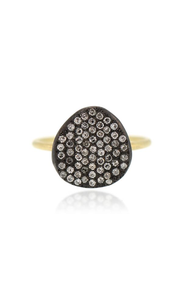Lfrank 18k Yellow Gold Pavã© Diamond Ring