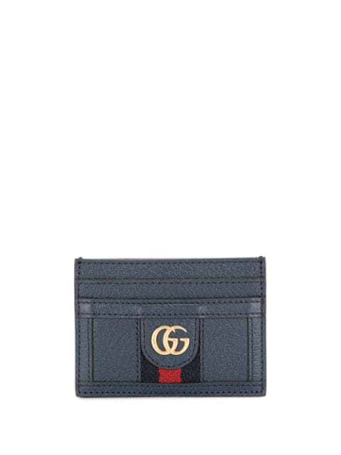 Gucci Ophidia Card Case In Blue