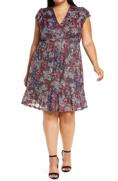 Michael Michael Kors Women's Zinnia Ruched Mini Dress In Azalea