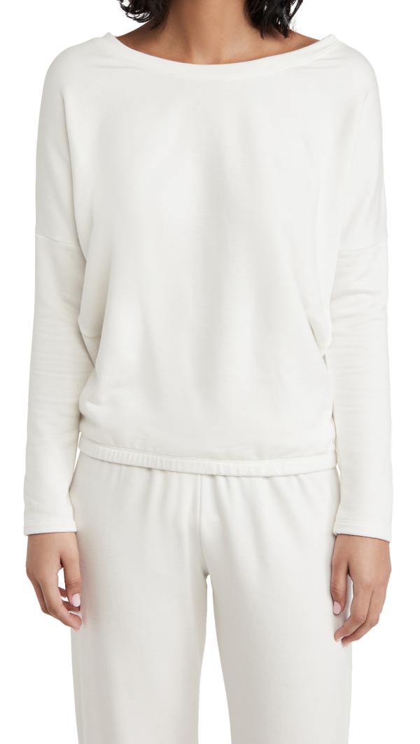 Eberjey Softest Sweats Slouchy Top In Winter White