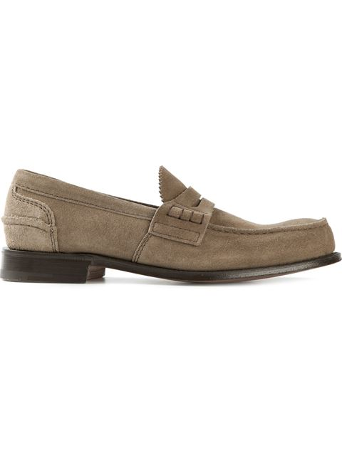 Church's Pembrey Suede Loafers In Nude & Neutrals