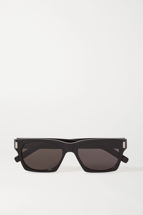 Saint Laurent Square-frame Acetate Sunglasses In Black