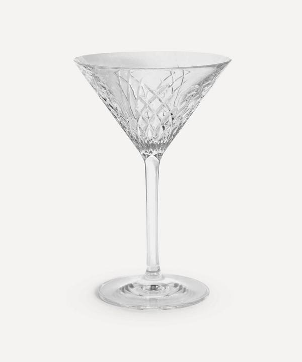 Soho Home Barwell Cut Crystal Martini Glass In Clear