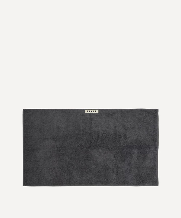 Tekla Organic Cotton Hand Towel In Charcoal Grey