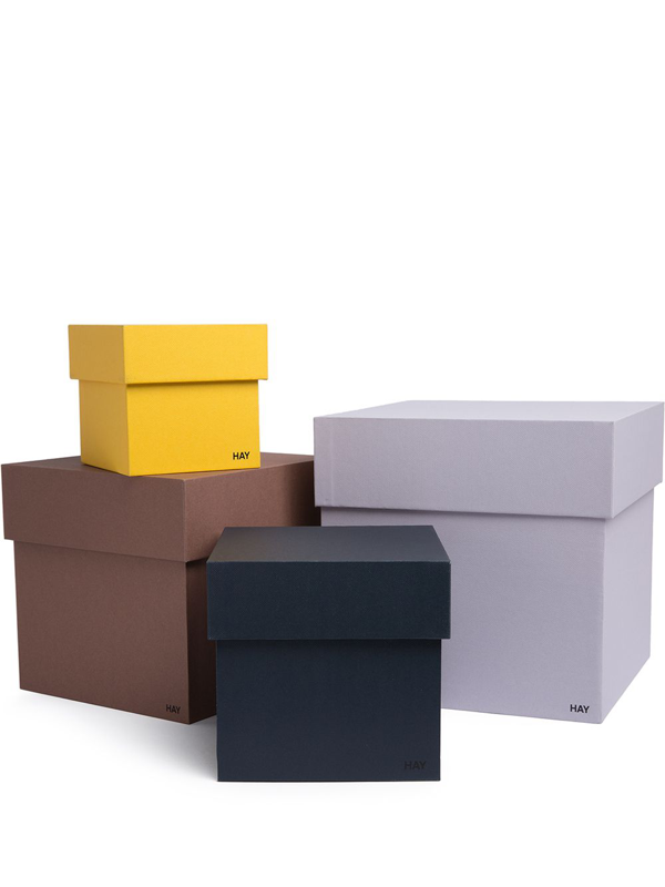 Hay Box Box Cardboard Storage Boxes Set Of Four In Grey