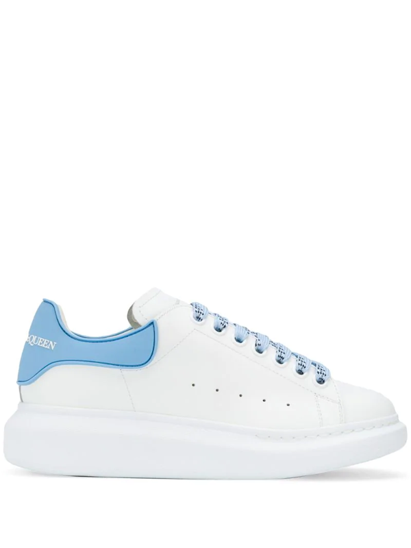 Alexander Mcqueen Oversize Sole Rubber Heel Sneakers In White