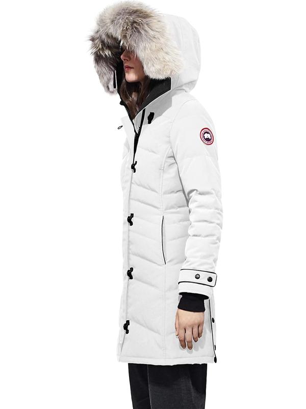 Canada Goose Women's Arctic Tech Lorette Fur-trim Down Parka In Northstar White
