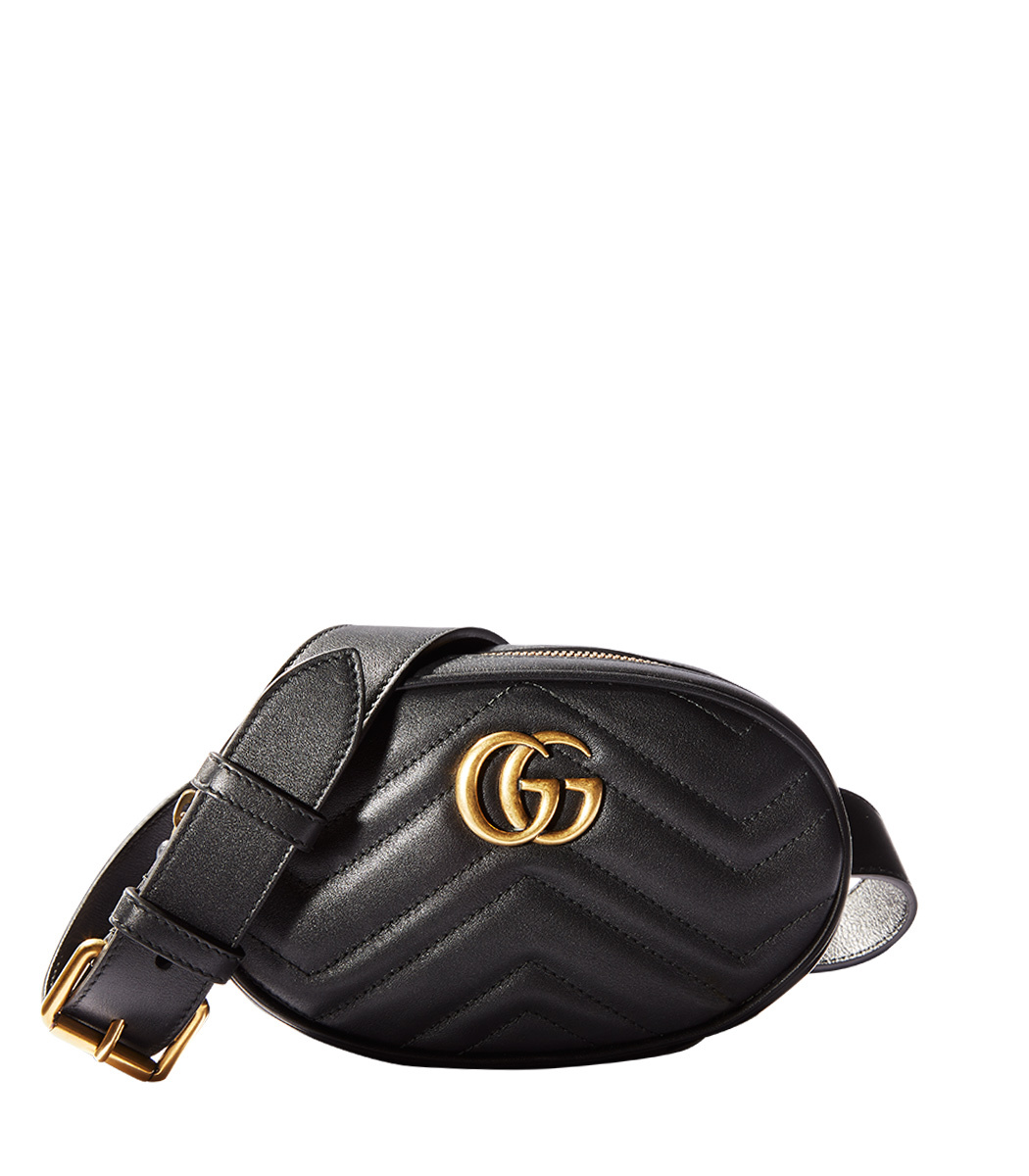 0358caed3477 Gucci Gg Marmont 2.0 Leather Belt Pack, Black | ModeSens