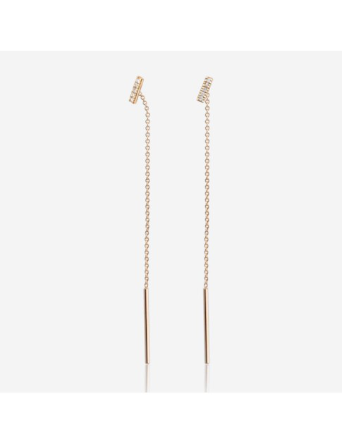 Gold & Roses Balance Line Earrings In Gold