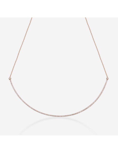 Gold & Roses Shewel Curve Necklace In Gold