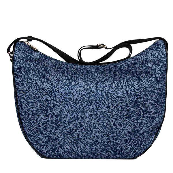 Borbonese Luna Bag Medium In Blue