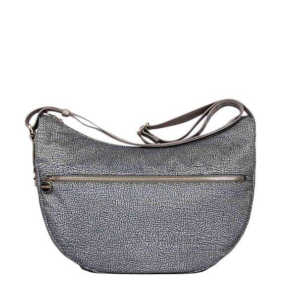 Borbonese Luna Bag Middle In Grey