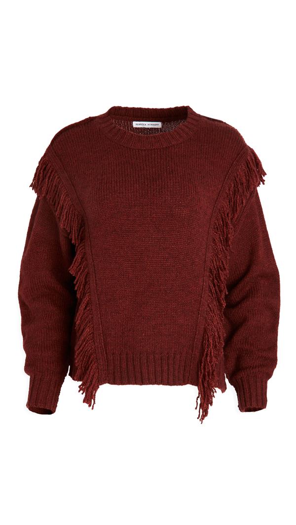 Rebecca Minkoff Willa Sweater In Burgundy