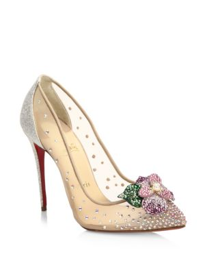 951089bc9e23 Christian Louboutin Feerica Crystal-Embellished Red Sole Pump