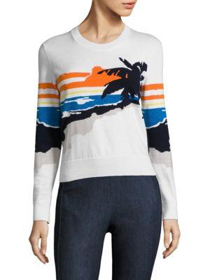 cbc2b4fc561e86 Rag & Bone Woman Intarsia-Knit Cotton-Blend Sweater White | ModeSens