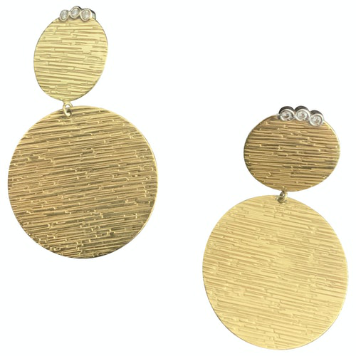 Pre-owned Roberto Coin Gold Yellow Gold Earrings