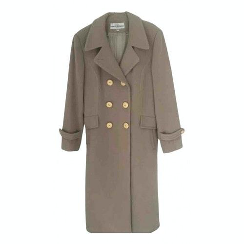 Pre-owned Pierre Balmain Beige Wool Trench Coat