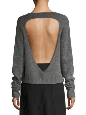 Mcq By Alexander Mcqueen Mcq Alexander Mcqueen Cutout Back Sweater In Grey