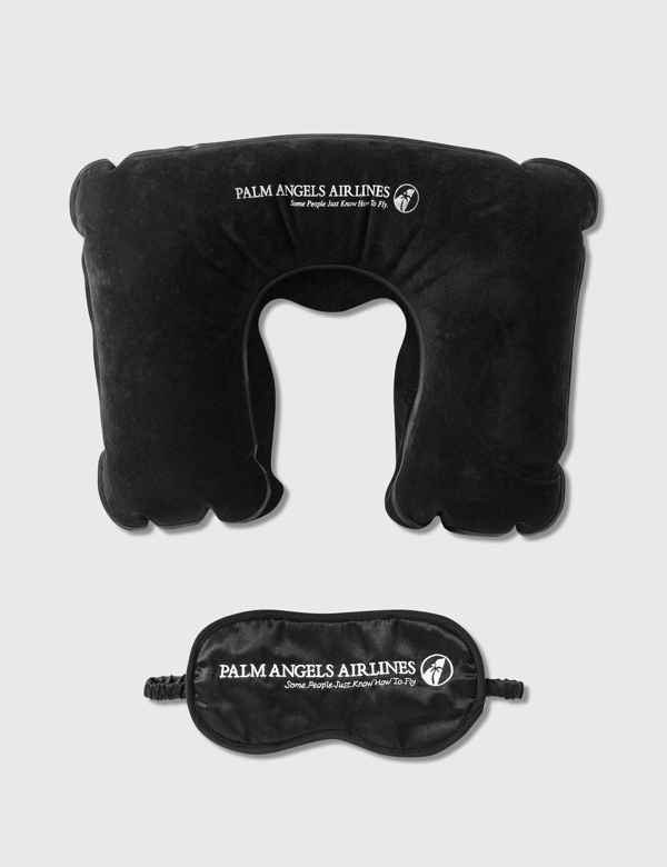 Palm Angels Airlines Travel Set In Black